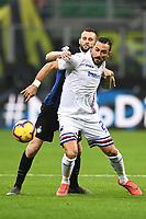 Fabio Quagliarella-Marcelo Brozovic<br /> Milano 17-2-2019 Stadio Giuseppe Meazza in San Siro Football Serie A 2018/2019 FC Internazionale  - UC Sampdoria Foto Image Sport / Insidefoto