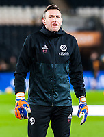 Sheffield United's goalkeeping coach Darren Ward during the Sky Bet Championship match between Hull City and Sheff United at the KC Stadium, Kingston upon Hull, England on 23 February 2018. Photo by Stephen Buckley / PRiME Media Images.