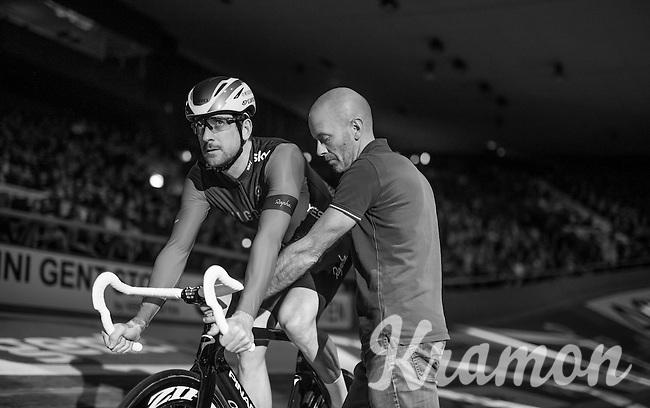 Sir Bradley Wiggins (GBR/Wiggins)<br /> <br /> Ciao Fabian<br /> <br /> Farewell event in 't Kuipke in Gent/Belgium for Fabian Cancellara after retiring for pro racing (november 2016)