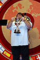 11th January 2004: Kent publican Andy Fordham celebrates his win at the World Professional Darts Championships Final at Lakeside, Frimley Green. Fordham beat King 6 - 3