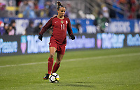 Columbus, Ohio - Thursday March 01, 2018: Mallory Pugh during a 2018 SheBelieves Cup match between the women's national teams of the United States (USA) and Germany (GER) at MAPFRE Stadium.