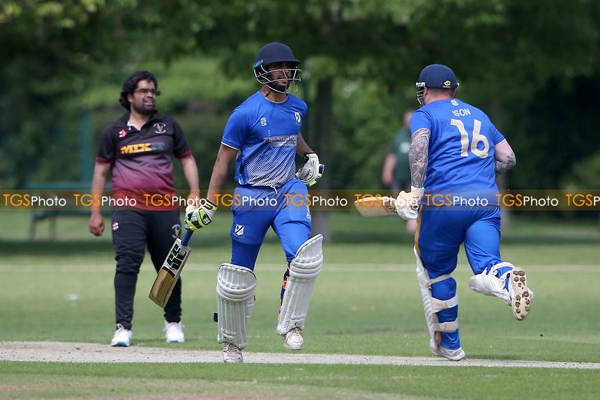 P Gupta in batting action for Upminster during Upminster CC vs Fives & Heronians CC, Hamro Foundation Essex League Cricket at Upminster Park on 5th June 2021