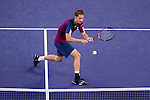 SHANGHAI, CHINA - OCTOBER 14:  Florian Mayer of Germany returns a ball to Jo-Wilfried Tsonga of France during day four of the 2010 Shanghai Rolex Masters at the Shanghai Qi Zhong Tennis Center on October 14, 2010 in Shanghai, China.  (Photo by Victor Fraile/The Power of Sport Images) *** Local Caption *** Florian Mayer