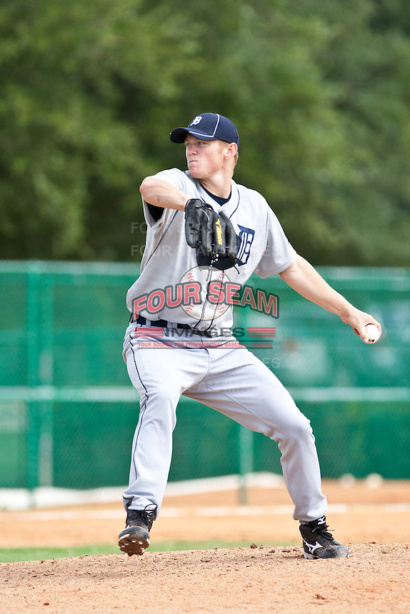 Casey Crosby of the Gulf Coast League Tigers during the game against the Gulf Coast League Braves July 3 2010 at the Disney Wide World of Sports in Orlando, Florida.  Photo By Scott Jontes/Four Seam Images