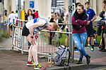 © Joel Goodman - 07973 332324. 15/10/2017 . Manchester , UK . Athletes warm up and prepare ahead of taking part in the Greater Manchester Half Marathon in Old Trafford . Photo credit : Joel Goodman