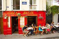 Paris - France - Montmatre - Retsaurant.