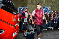Roberto Firmino of Liverpool (9) arriving before the Premier League match between Brighton and Hove Albion and Liverpool at the American Express Community Stadium, Brighton and Hove, England on 12 January 2019. Photo by Edward Thomas / PRiME Media Images.