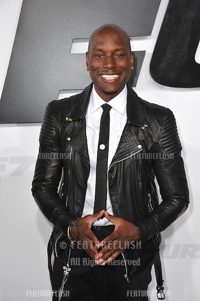 """Tyrese Gibson at the world premiere of his movie """"Furious 7"""" at the TCL Chinese Theatre, Hollywood.<br /> April 1, 2015  Los Angeles, CA<br /> Picture: Paul Smith / Featureflash"""