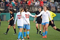 Portland, OR - Sunday March 11, 2018: Sofia Huerta during a National Women's Soccer League (NWSL) pre season match between the Portland Thorns FC and the Chicago Red Stars at Merlo Field.