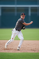 Parker Tworek (60), from Gretna, Nebraska, while playing for the Giants during the Baseball Factory Pirate City Christmas Camp & Tournament on December 28, 2017 at Pirate City in Bradenton, Florida.  (Mike Janes/Four Seam Images)