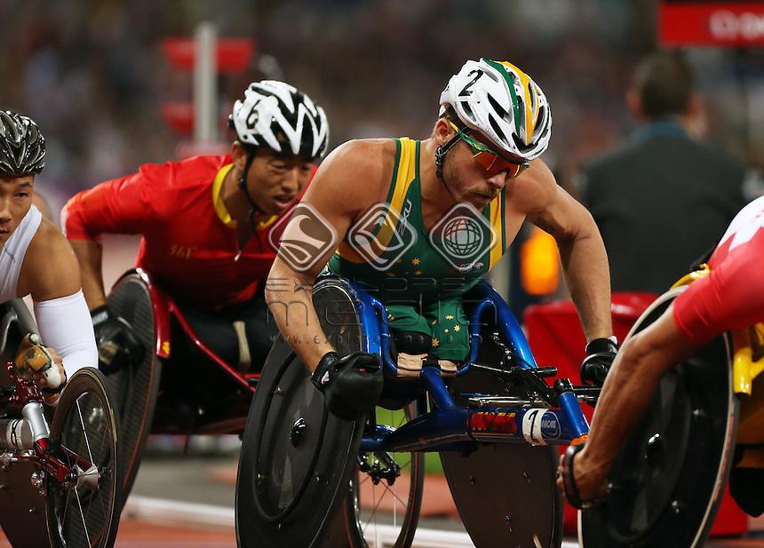 Kurt Fearnley (AUS), Men's 1500m - T54 Final.<br /> Athletics, Olympic Stadium (Tuesday 4th Sept)<br /> Paralympics - Summer / London 2012<br /> London England 29 Aug - 9 Sept <br /> © Sport the library/Joseph Johnson