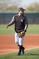 Chicago White Sox infielder Yolmer Sanchez (5) during Spring Training Camp on February 25, 2018 at Camelback Ranch in Glendale, Arizona. (Zachary Lucy/Four Seam Images)