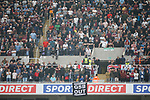 West Ham fans with an anti Gold, Sullivan and Brady banner in the away end. Newcastle v West Ham, August 15th 2021. The first game of the season, and the first time fans were allowed into St James Park since the Coronavirus pandemic. 50,673 people watched West Ham come from behind twice to secure a 2-4 win.