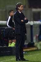 Filippo Inzaghi coach of Benevento Calcio dejection<br /> during the Serie A football match between Benevento Calcio and Spezia Calcio at stadio Ciro Vigorito in Benevento (Italy), November 7th, 2020. <br /> Photo Cesare Purini / Insidefoto