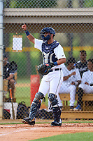 FCL Tigers West catcher Mike Rothenberg (37) during a game against the FCL Yankees on July 31, 2021 at Tigertown in Lakeland, Florida.  (Mike Janes/Four Seam Images)
