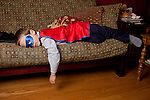 My older son, then five, decided to play asleep during a portrait shoot in our living room.