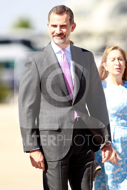 King Felipe VI of Spain during the Farewell with Honors previous to their official visit to the United Kingdom. July 11, 2017. (ALTERPHOTOS/Acero)