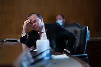 United States Senator Mike Lee (Republican of Utah) listens during a U.S. Senate Committee on Energy and Natural Resources hearing on Capitol Hill in Washington D.C., U.S., on Wednesday, June 24, 2020.  Credit: Stefani Reynolds / CNP/AdMedia/AdMedia