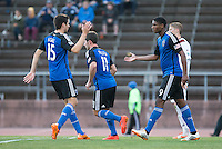San Francisco, California - June 11, 2014: San Jose Earthquakes face off against Sacramento Republic FC at Kezar Stadium in the Fourth round of U.S. Open Cup on Wednesday.