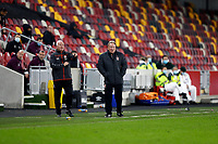7th November 2020; Brentford Community Stadium, London, England; English Football League Championship Football, Brentford FC versus Middlesbrough; Middlesbrough Manager Neil Warnock watches play from the touchline