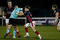 Rory Brand of London Scottish in action during the Greene King IPA Championship match between London Scottish Football Club and Nottingham Rugby at Richmond Athletic Ground, Richmond, United Kingdom on 7 February 2020. Photo by Carlton Myrie.