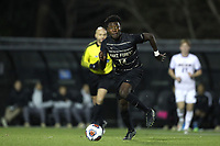 WINSTON-SALEM, NC - DECEMBER 07: Joey DeZart #14 of Wake Forest University runs with the ball during a game between UC Santa Barbara and Wake Forest at W. Dennie Spry Stadium on December 07, 2019 in Winston-Salem, North Carolina.
