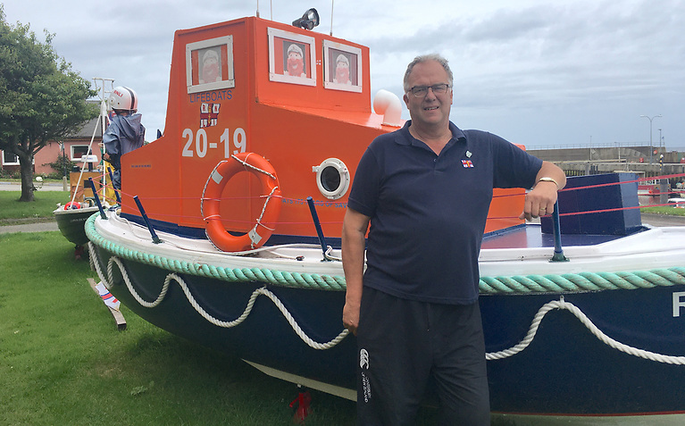 Kevin Scott (58) fulfilled a retirement goal and raised funds for the RNLI in lockdown
