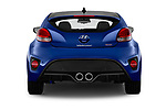 Straight rear view of 2017 Hyundai Veloster Turbo-Manual 5 Door Hatchback Rear View  stock images