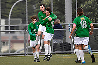 Cameron Lindsay of the Wairarapa United celebrates a goal with team mates during the Central League Football -  North Wellington FC v Wairarapa United at Alex Moore Park ( Alex Moore Artificial), Johnsonville, New Zealand on Saturday 29 May 2021.<br /> Copyright photo: Masanori Udagawa /  www.photosport.nz