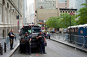 New  York, New York.September 11, 2011..An extremely heavy police was present at Ground Zero to mark the 10th anniversary of 9-11-2001 tragic attack on the US.
