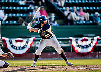 20 June 2021: Westfield Starfires infielder Peter DeMaria, from Chatham, NJ, in action against the Vermont Lake Monsters at Centennial Field in Burlington, Vermont. The Starfires defeated the Vermont Lake Monsters 10-2 at Centennial Field, in Burlington, Vermont. Mandatory Credit: Ed Wolfstein Photo *** RAW (NEF) Image File Available ***
