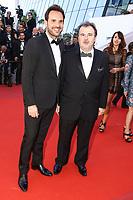 Christophe Michalak et Pierre HermÈ sur le tapis rouge pour la projection du film en competition OKJA lors du soixante-dixiËme (70Ëme) Festival du Film ‡ Cannes, Palais des Festivals et des Congres, Cannes, Sud de la France, vendredi 19 mai 2017.