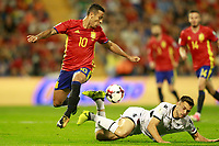 Spain's Thiago Alcantara (l) and Albania's Frederic Veseli during FIFA World Cup 2018 Qualifying Round match. October 6,2017.(ALTERPHOTOS/Acero) /NortePhoto.com /NortePhoto.com