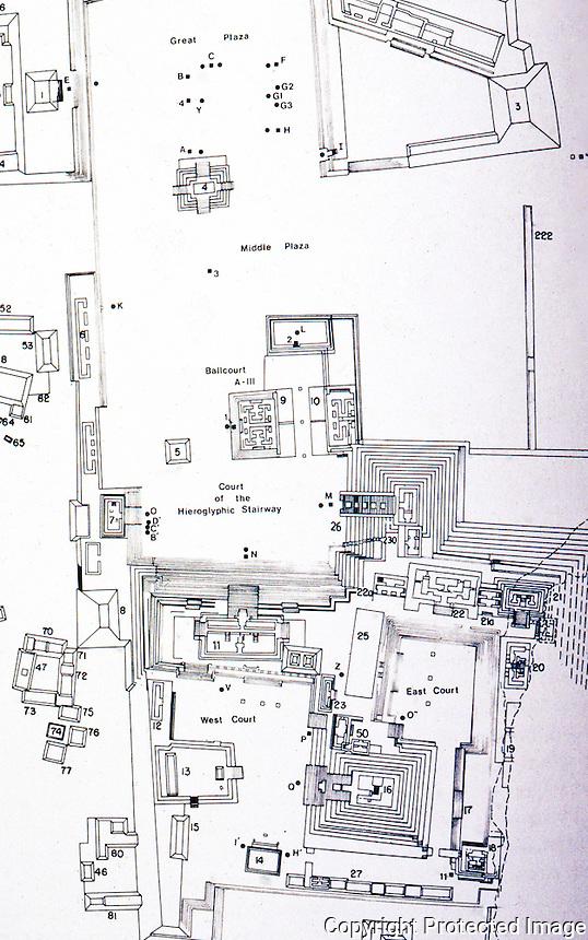 World Civilization:  Mayan Culture--Copan Plan of Principal Ruins.  W. L. Fash, SCRIBES, WARRIORS AND KINGS.
