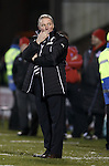 Ally McCoist blows kisses to the Airdrie fans behind him at the end of the match