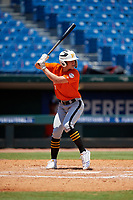 Clayton Hodges (9) of Episcopal High School in Jacksonville, FL during the Perfect Game National Showcase at Hoover Metropolitan Stadium on June 19, 2020 in Hoover, Alabama. (Mike Janes/Four Seam Images)