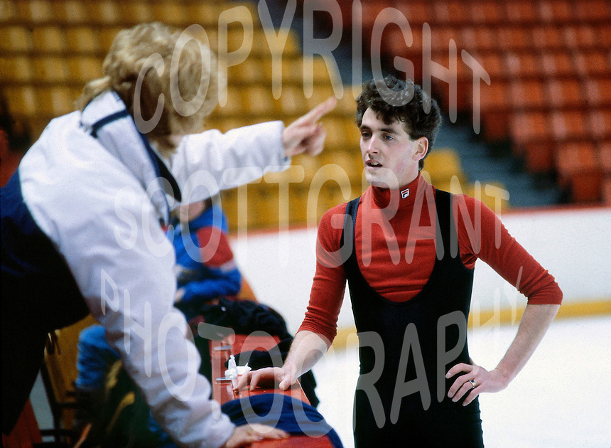 Brian Orser Canadian figure skater. Photo copyright Scott Grant.