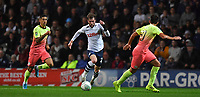 Preston North End's Tom Barkhuizen takes on the Manchester City defence<br /> <br /> Photographer Dave Howarth/CameraSport<br /> <br /> The Carabao Cup Third Round - Preston North End v Manchester City - Tuesday 24th September 2019 - Deepdale Stadium - Preston<br />  <br /> World Copyright © 2019 CameraSport. All rights reserved. 43 Linden Ave. Countesthorpe. Leicester. England. LE8 5PG - Tel: +44 (0) 116 277 4147 - admin@camerasport.com - www.camerasport.com