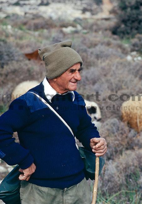 Schafhirte, Hirte, Shepherd, Kourion, Curium near Limassol, Cyprus, Zypern.
