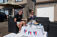 A street  party in Welling, Kent, England 8th May 2020. Victory in Europe (VE) 75th Anniversary Celebrations during the UK Lockdown due to the Coronavirus pandemic. Photo by Alan Stanford / PRiME Media Images