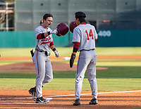 STANFORD, CA - JUNE 7: Tim Tawa, Eddie Park during a game between UC Irvine and Stanford Baseball at Sunken Diamond on June 7, 2021 in Stanford, California.