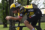 Edoardo Affini (ITA) Jumbo-Visma recons the course before Stage 21 of the 2021 Giro d'Italia, an individual time trial running 30.3km from Senago to Milan, Italy. 30th May 2021.  <br /> Picture: LaPresse/Fabio Ferrari   Cyclefile<br /> <br /> All photos usage must carry mandatory copyright credit (© Cyclefile   LaPresse/Fabio Ferrari)