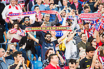 Atletico de Madrid's fans show their supports to the team prior to the La Liga match between Atletico de Madrid and Sevilla FC at the Estadio Vicente Calderon on 19 March 2017 in Madrid, Spain. Photo by Diego Gonzalez Souto / Power Sport Images