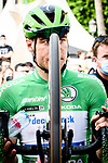 Green Jersey Fabio Jakobsen (NED) Deceuninck Quick-Step at the end of Stage 10 of La Vuelta d'Espana 2021, running 189km from Roquetas de Mar to Rincón de la Victoria, Spain. 24th August 2021.     <br /> Picture: Cxcling   Cyclefile<br /> <br /> All photos usage must carry mandatory copyright credit (© Cyclefile   Cxcling)