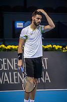 VALENCIA, SPAIN - OCTOBER 28: Marcel Granollers during Valencia Open Tennis 2015 on October 28, 2015 in Valencia , Spain