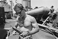 - men of US Navy special unit Seals at cape Teulada (Sardinia) for a NATO exercise (may 1992)....- uomini del reparto speciale della marina USA Seals a Capo Teulada (Sardegna) per una esercitazione NATO (maggio 1992)