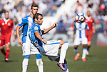 Victor Diaz of Deportivo Leganes in action during their La Liga match between Deportivo Leganes and Sevilla FC at the Butarque Municipal Stadium on 15 October 2016 in Madrid, Spain. Photo by Diego Gonzalez Souto / Power Sport Images