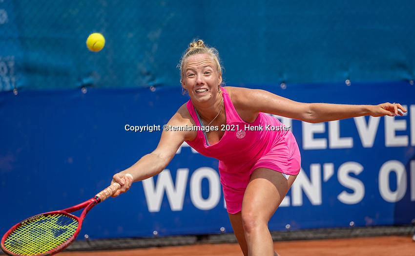Amstelveen, Netherlands, 10 Juli, 2021, National Tennis Center, NTC, Amstelveen Womans Open, Singles final:  Yana Mordeger (GER)<br /> Photo: Henk Koster/tennisimages.com