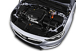 Car stock 2017 Opel Insignia Grand Sport Dynamic 5 Door Hatchback engine high angle detail view