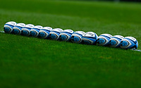 21st November 2020; Welford Road Stadium, Leicester, Midlands, England; Premiership Rugby, Leicester Tigers versus Gloucester Rugby; A general view of the Mattoli Woods Welford Road Stadium pitch with practise balls lined up